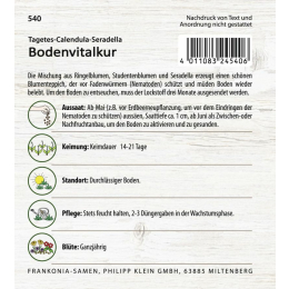 Bodenvitalkur, Tagetes und Calendula