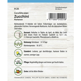 Zucchini, Partenon F1