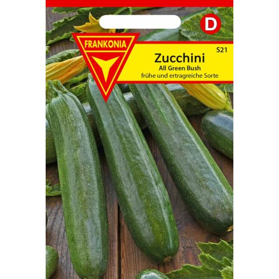 Zucchini, All Green Bush