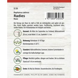 Radies, Raxe