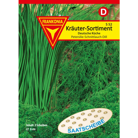 Kräuter-Sortiment, Dt. Küche,Saatscheibe