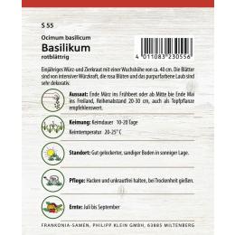 Basilikum, rotblättrig
