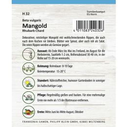 Mangold, Rhubarb Chard