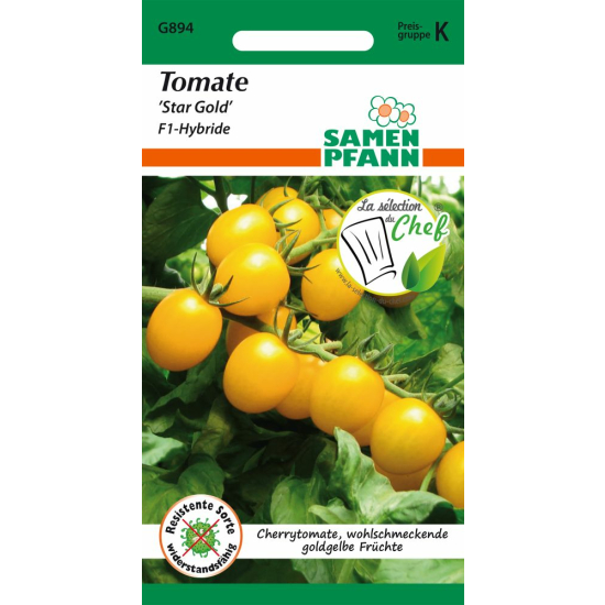 Tomate, Star Gold F1 (Cherry-Tomate)