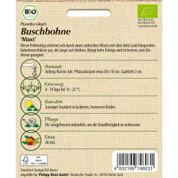 Buschbohne Maxi, BIO