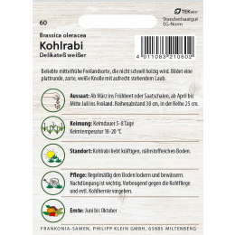 Kohlrabi, Delikatess weißer