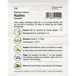 Radies, Eiszapfen