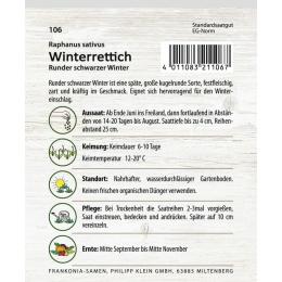 Winterrettich, Runder schwarzer Winter